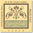 Name Doodles - Square Address Labels/Stickers (Arcadia Yellow)